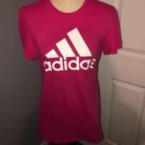 NWT Adidas Logo Pink Graphic Tee